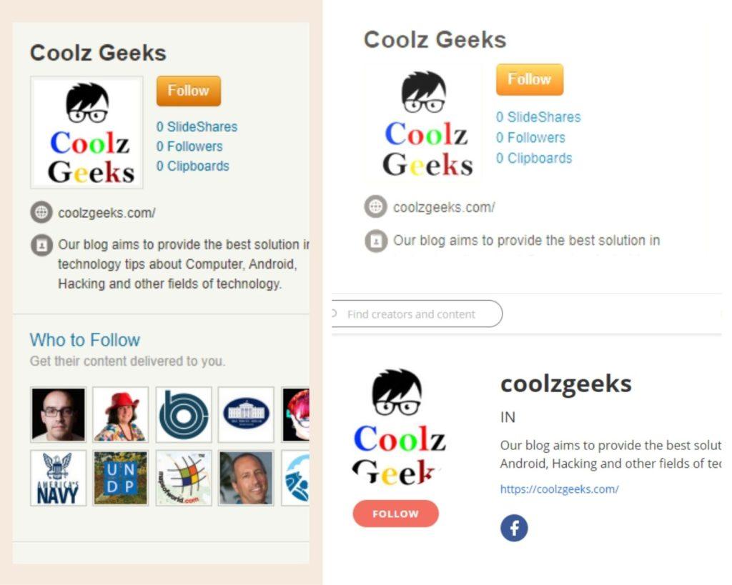 profile page creation sites list