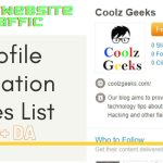 Profile Creation Sites List With High DA
