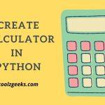 Create calculator in Python