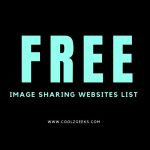 Free Image Sharing sites list