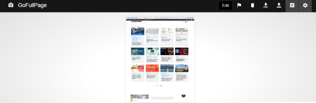 Full Page Screen Capture